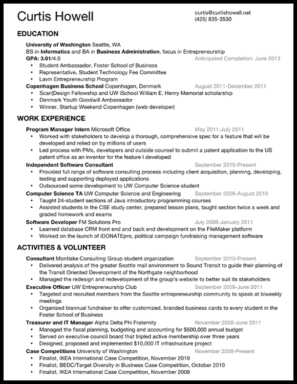What should my resume look like